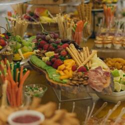 Creations Catering Cheese And Wine Buffet